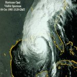 Satellite picture of Hurricane Opal