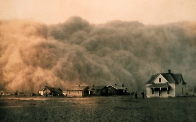 Dust storm - courtesy of NOAA, George E. Marsh