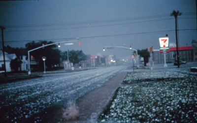 Hail - Picture courtesy of NOAA / NSSL