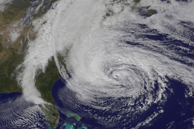 Hurricane Sandy satellite picture