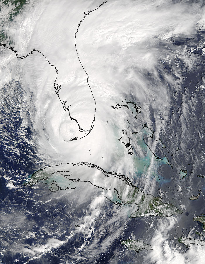 Hurricane Irma satellite image over Florida